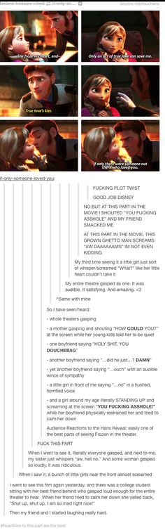 Tumblr's reactions to Hans' betrayal in Frozen.
