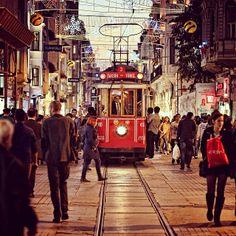 BEYOGLU TRAM. Istanbul, Turkey. emrkrm @emrkrm Instagram photos | Thank you to Ugur Soyata for sharing this wonderful photo. (Armada Hotel)