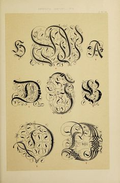 The art of illuminating as practised in Europe from the earliest times : illustrated by borders, initial letters, and alphabets Initial Letters, The Borrowers, Alphabet, Initials, Typography, Calligraphy, Embroidery, Illustration, Gothic