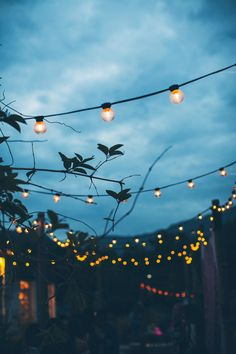 String lights are the easiest way to give your outdoor are a cosy vibe