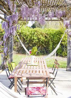 wisteria covered arbor