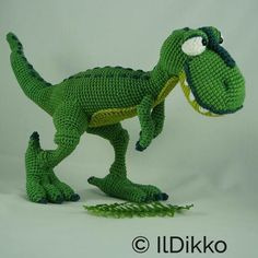 Nem IlDikko Amigurumi Pattern: T-mothy the T-rex. Have a nice crocheting time! :)