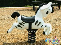 A great addition to any new or existing playground, our Marty Party the Zebra Spring Rider teaches a variety of  motor and developmental skills.