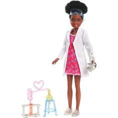 Barbie Team Stacie Friend of Stacie Doll Science Playset with Accessories Walmart, Mattel Barbie, Barbie Dolls, Barbie Online, Trendy Dresses, Dresses For Work, Barbie Horse, White Lab Coat, Barbie Sisters