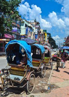 Rickshaw taxis in Kathmandu, Nepal