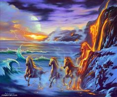 """""""Wonders of the Universe"""" ~ Jim Warren Amazing Drawings, Amazing Art, Horse Pictures, Art Pictures, Art Drawing Images, Inspiration Artistique, Double Picture, Native American Images, Surrealism Painting"""