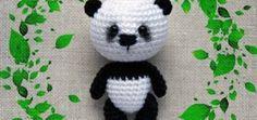 Amigurumi panda keychain bag charm pattern