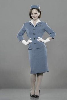 Picture: Christina Ricci in 'Pan Am.' Pic is in a photo gallery for 'Pan Am' featuring 20 pictures. Christina Ricci, Christina Aguilera, Pan Am, Cool Costumes, Halloween Costumes, Costume Ideas, Stewardess Costume, Justin Long, Thing 1