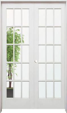 "Prehung Interior Double Doors mastercraft® 48"" x 80"" oak 10-woodlite prehung interior double"