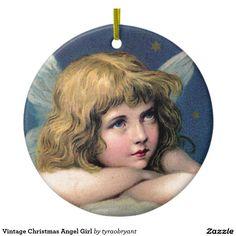 Vintage Christmas Angel Girl