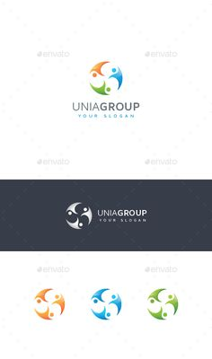 Buy Abstract United People Logo by asynchro on GraphicRiver. Modern, colorful and original abstract people multipurpose logo template: vector, CMYK, .EPS CS and. Vector Logo Design, Logo Design Template, Logo Templates, 3d Logo, Logo Ad, Globe Vector, People Logo, Abstract Logo, Slogan