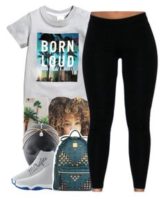 """."" by renipooh ❤ liked on Polyvore featuring H&M, NIKE and MCM"