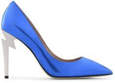 Giuseppe Zanotti G-Heel High Heel Pumps Mirrored blue patent leather high heel with Metal sculpted heels Leather High Heels, Patent Leather Pumps, High Heel Pumps, Pumps Heels, Stilettos, Giuseppe Zanotti Heels, Blue Heels, Fashion Heels, Footwear
