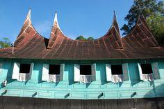 Taken at Bukittinggi, Indonesia Rumah Gadang House Information, Window Shutters, Travel Tours, Traditional House, Vacation Trips, Windows, Deviantart, Coffee, House Styles