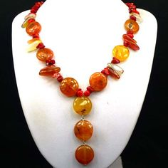 Pretty Natural Carnelian Red Fossil Coral by CherryGemstone, $6.99
