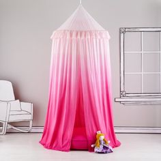 pink ombre tent