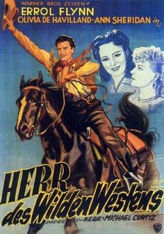 Biography Movie Posters   Dodge City Poster Movie German 11 x 17 In - 28cm x 44cm Errol Flynn ...