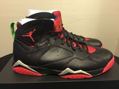 Men's Air Jordan 7 Retro Marvin the Martian Black Red 304775 029 size 10 shoes #Jordan #BasketballShoes #Nike