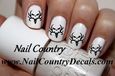 50pc Country Black Bone Collector Deer Nail Decals Nail Art Nail Stickers Best Price  NC160