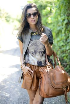 Easy For The Meeting ( Leather Totes & Leather Shorts )