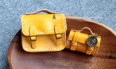 Mini yellow brief bag