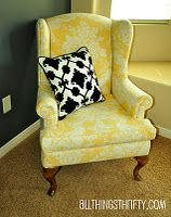 How to reupholster a wing back chair.
