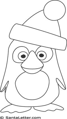 Christmas Penguin Coloring Pages Penguin Coloring Pages, Cute Coloring Pages, Christmas Coloring Pages, Christmas Rock, Christmas Colors, Christmas Crafts, Xmas, Drawing Sheet, Christmas Templates