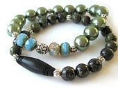 Gemstone stretch bracelets / handmade bracelets by RockAndHardware