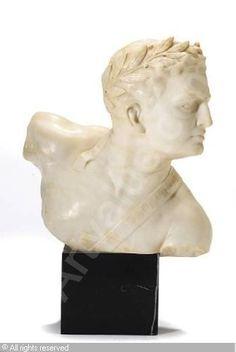 An Italian bust of an athlete