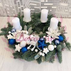 Hanukkah, Christmas Wreaths, Holiday Decor, Home Decor, Decoration Home, Room Decor, Home Interior Design, Home Decoration, Interior Design