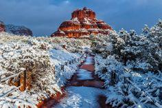 https://flic.kr/p/Qx1W3q | I'm Dreaming Of A White Christmas | Bell Rock on Christmas morning in Sedona, Arizona.