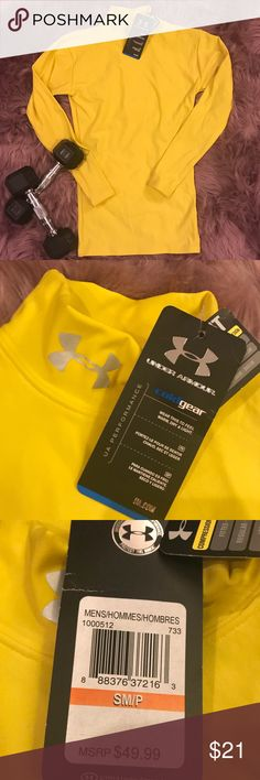 🆕 Under Armour Men's Compression Coldgear sz SM Get noticed in this bright yellow Compression Coldgear top from Under Armour. This item is made from a nylon/ polyester and elastane blend and comes with the original tags! 💖Thank you for visiting my closet! 💖  🛍 Bundle and save 20%!! 🐙 This item comes from a pet- free home 🚭This item comes from a smoke- free home 🤔 Please feel free to contact me with questions🤗  ❤️💜💙 Happy Poshing💙💜❤️ Under Armour Shirts