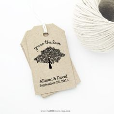 Tags on Pinterest Favor Tags, Wedding Tags and Thank You Tags