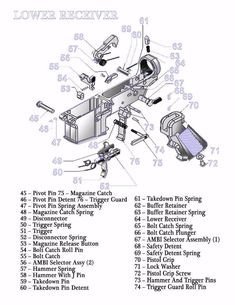 ar 15 exploded parts diagram ar 15 parts list steve s stuff M4 Parts Diagram ar 15 lower receiver diagram glossy poster picture photo rifle schematic us 2299 ebay