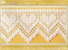 Lindos Bicos de Crochê | Crochê e Ponto Cruz