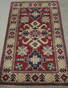 NR: 18589 Location: Kazak Size: x Country: Afghanistan Pile: Wool Base: Cotton Crocheted Afghans, Afghan Rugs, Carpet Design, Charcoal Color, Oriental Rug, Rugs On Carpet, Cross Stitch Embroidery, Design Elements, Red And Blue
