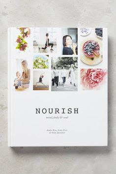 Nourish: Mind, Body & Soul by Sadie Frost, available at Book Depository with free delivery worldwide. Cookbook Cover Design, Recipe Book Design, Holly Davidson, Sadie Frost, Cocktail Book, Catalog Cover, Cookery Books, Branding, Brochure Design
