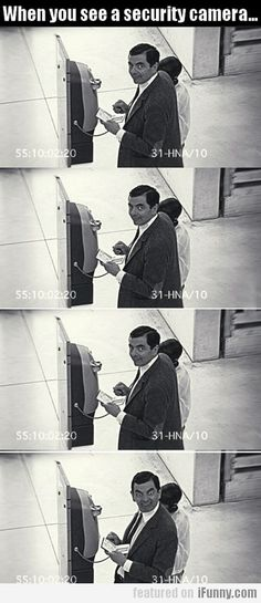 Funny pictures about Every time you see a security camera. Oh, and cool pics about Every time you see a security camera. Also, Every time you see a security camera. Funny Shit, Funny Cute, Funny Posts, The Funny, Funny Memes, Hilarious, Jokes, Funny Stuff, Random Stuff