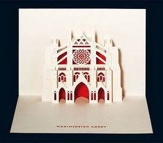 Westminster Abbey Pop-Up Card by Judy Robinson