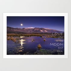 Love you to the moon and back.  Valentine's Day Art Print by Guido Montañés - $20.00