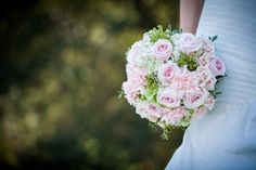 Pink bouquet with green accents // photo by 410 Studio Photography, via Every Last Detail