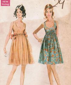 1960s McCall's 9459 Vintage Sewing Pattern Misses' Dress Size 10 Bust 32-1/2. $10.00, via Etsy.