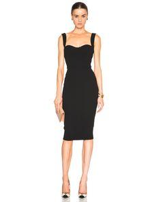 Victoria Beckham | Black Matte Crepe Curve Dress | Lyst