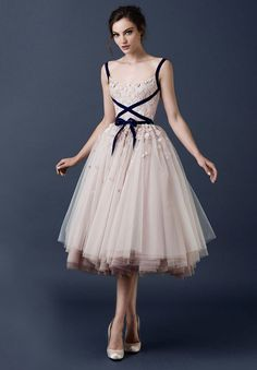 Paolo Sebasion blush tulle dress