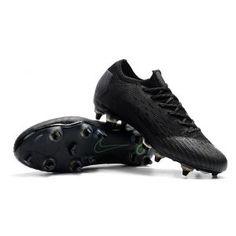 purchase cheap 358e4 b3ad8 Nike Mercurial Vapor 12 Elite SG AC Black Cleats, Soccer, Football Boots, Hs