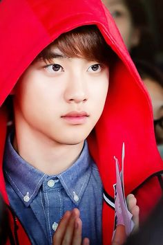 D.O looks like red riding hood here... is it bad that i like it