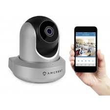Amcrest Wireless IP Camera WiFi Security Surveillance Camera System, HDSeries Indoor Camera for Baby Pet Nanny Monitor, Plug/Play, Pan/Tilt, Two-Way Audio & Night Vision (Silver) Ip Security Camera, Security Surveillance, Security Cameras For Home, Surveillance System, Camera Surveillance, Video Security, Dome Camera, Spy Camera, Video Camera