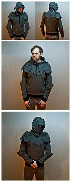Suit of armour hoodie