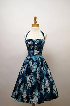 A fabulous 1950s Alfred Shaheen halter dress