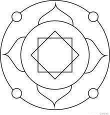 Free mandalas coloring > Flower Mandalas > Flower Mandala Design 16
